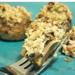 Chèvre Stuffed Mushrooms