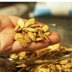 Roasted Pumpkin Seeds (and a belated Halloween story)