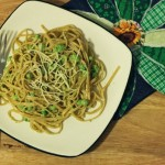 Fresh Pea Pesto & Linguine