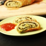 Pesto Pinwheel Pizza Bread