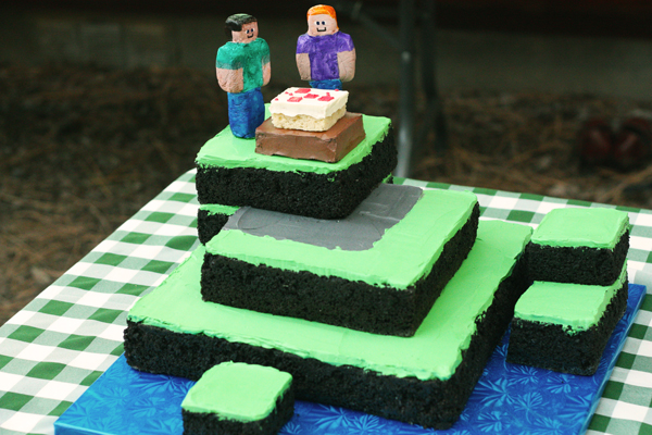 Check Out This Minecraft Cake My Friend Made For Her Best Friend S