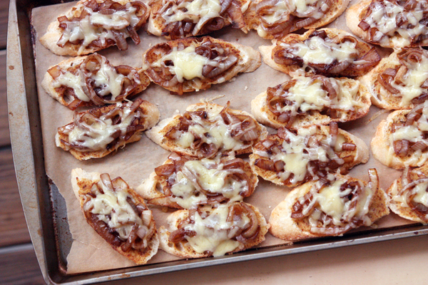 French Onion Crostinis – 30 Pounds of Apples