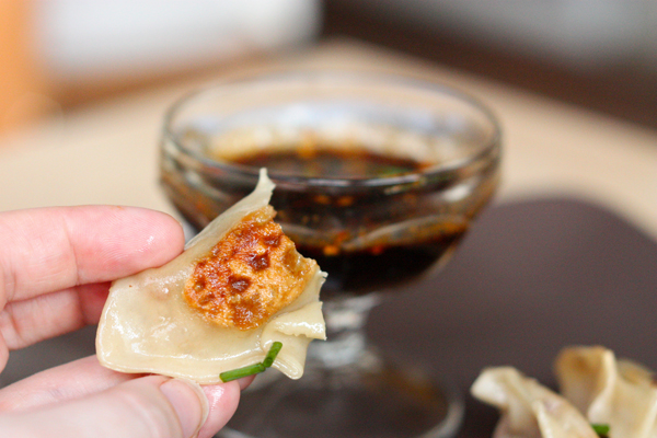 Having found this fantastic recipe for filling, I also wanted to try my  hand at making homemade wonton/potsticker wrappers.