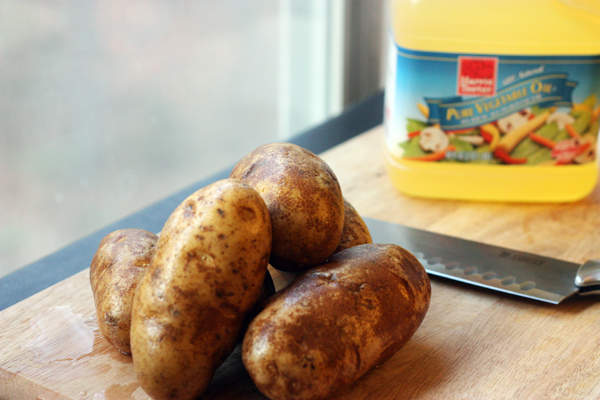 Potatoes and oil