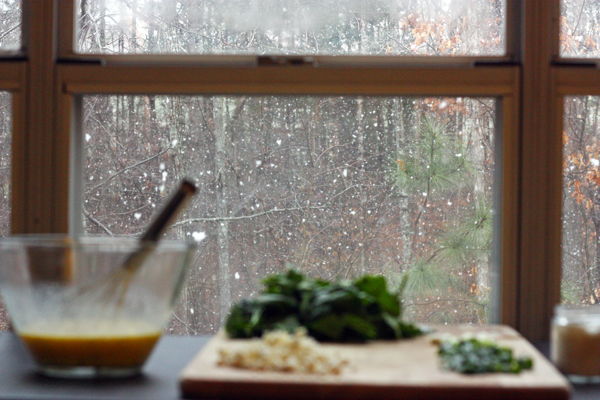 Cooking with snowfall