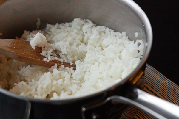 Easy rice without a rice cooker