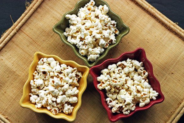 Popcorn three ways