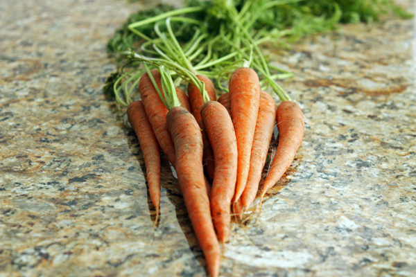 Thin and simple carrots