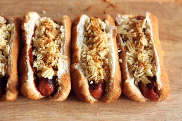 Chip and Cheddar Hot Dogs