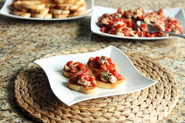 Bruschetta Mozzarella Toasts