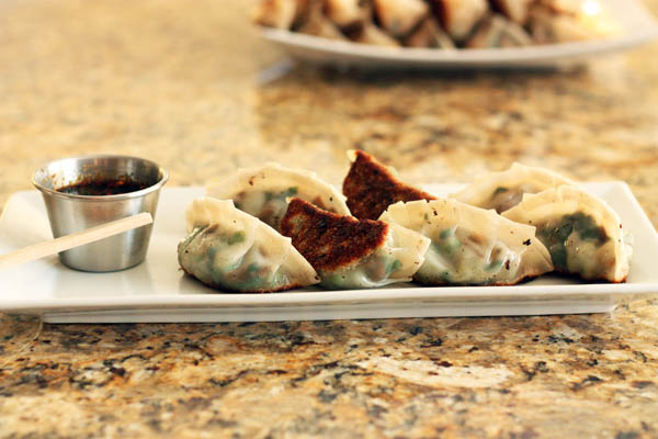 Fresh Sweet Pea Potstickers