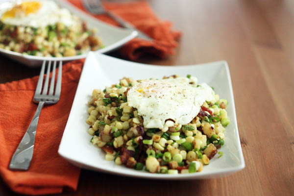 Corn and Bacon Hash