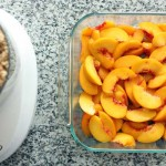 Peaches with Almond Crisp