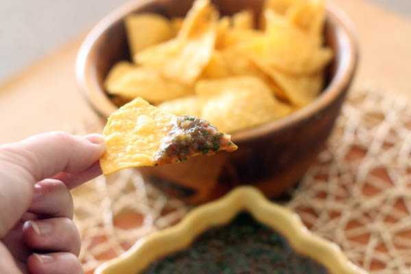 Adobo Cilantro Salsa with Chips