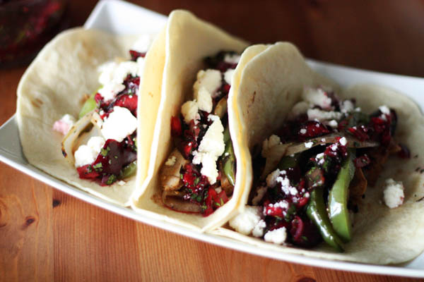Pork Tacos with Cherry-Lime Salsa