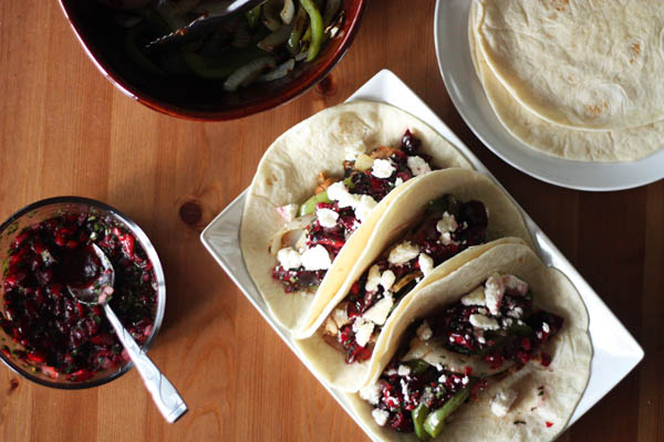 Pork and Cherry Tacos