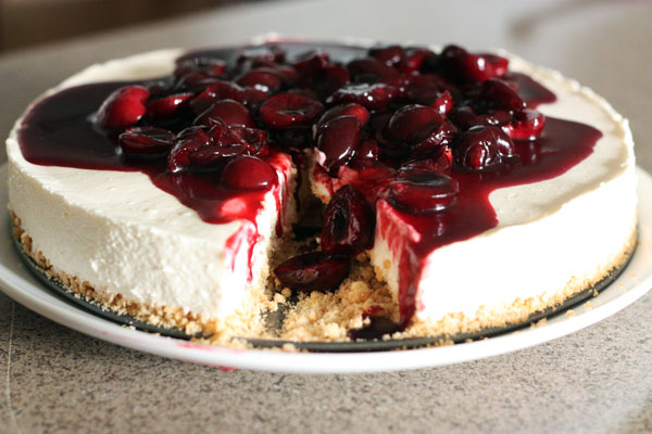 Sweet Cherry Cheesecake